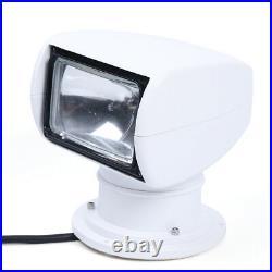 100W 12V LED Remote Control Marine Boat Car Searchlight Wireless Spotlight NEW