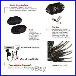12PCS Waterproof RGB LED Multi-Color Offroad Rock Light Kits Wireless Bluetooth