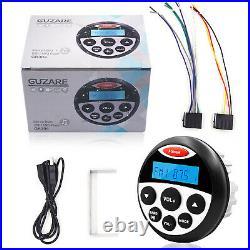 12V Marine Radio Boat Bluetooth Audio Car Stereo+3 Waterproof Car Speakers 70w