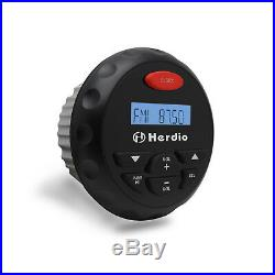 12 V Marine Radio Stereo Boat Bluetooth MP3 Player+2 Pair 4Car Celling Speakers