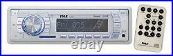 200W New Marine Boat MP3 Stereo Radio Pair Speakers & PLMRA400 400 Watt Amp Pkg