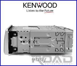 2 White 6.5Enrock 120W Boat Speakers, Kenwood USB Bluetooth AUX CD Marine Radio