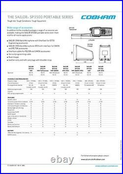 2x Thrane & Thrane Sailor SP3560 ATEX UHF Marine boot boat Funkgerät radio devic