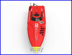 31inch Vector80 ABS Hull Boat Ship ARTR 2.4Ghz Radio 55+mph Brushless Motor RC