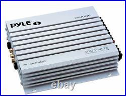 400W Boat Amplifier, 8 Speakers, Bluetooth AUX AM FM Round Radio/Antenna