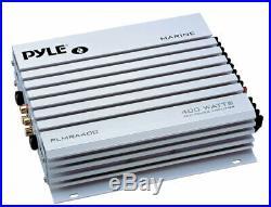 400W Marine Amplifier, 5 Marine Speakers, Bluetooth JVC Marine Radio, Antenna