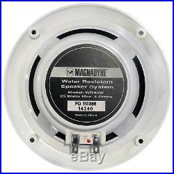 400W Marine Amplifier, Bluetooth CD Boat Radio, Cover, Antenna, 5 Speakers