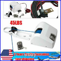 45LBS Marine Boat Electric Anchor Winch Assembly With Wireless Remote Control