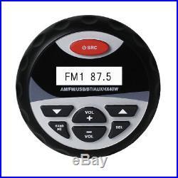 4Marine Radio Bluetooth Car Stereo+2 Way Boat Flush Mount Speakers