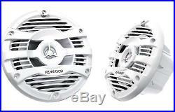 4 Kenwood KFC-1653MRW 6-1/2 Inch Two-Way Marine Boat Radio Speaker -2 Pairs