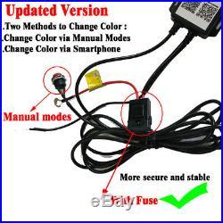 4x RGB LED Rock Light Wireless Bluetooth Trucks Multi-Color APP & Switch Control