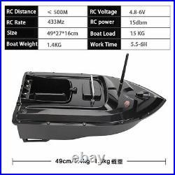 500M Wireless RC Carp Fishing Bait Boat 2 Motors+ Handbag Bag& 2 Spare Batteries
