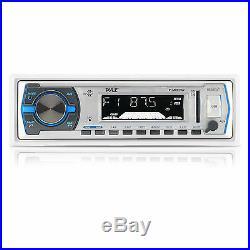 6.5 400W Marine Speakers, 400W Amplifier, Pyle USB Bluetooth Radio, Boat Antenna