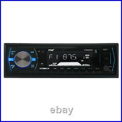 6.5 Marine 400W Speakers, 400W Amplifier, Pyle USB AUX AM FM Radio, Boat Antenna