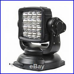 80W LED 360° Remote Control Searchlight Truck Boat Car Marine Wireless Spotlight