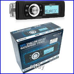 Aquatic Av Mp6 Shallow-mount Waterproof Bluetooth Stereo Din-size Marine Radio