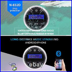 Bluetooth Marine Stereo Waterproof Boat DAB/DAB Radio + Speaker + Antenna White