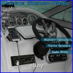 Bluetooth Wireless Stereo Marine Radio Usb System Am Fm Mp3 Sd Speakers Boat