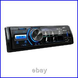 Boat Audio Bluetooth Marine USB AUX Radio, 4x JBL RGB LED Speakers, Antenna, Wire