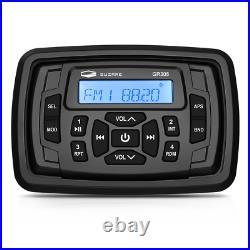 Boat Audio System Receiver Marine FM AM Radio + Waterproof IP66 Antenna