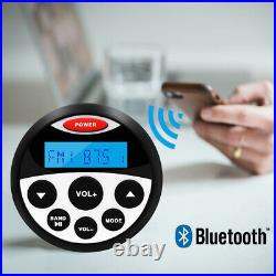 Boat Bluetooth Audio Receiver Marine FM AM Radio & Waterproof Speakers 2 Pair