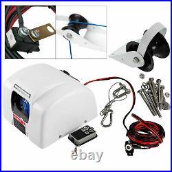 Boat Marine Electric Windlass Anchor Winch + Wireless Remote 45LBS Free Fall 12V