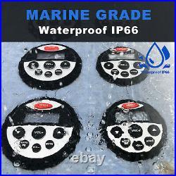 Boat Stereo Bluetooth Audio Marine Radio + 2Pair Waterproof Car Speakers + USB