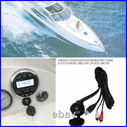 Boat Stereo Bluetooth Audio Marine Radio+4 2 Pair Waterproof Car Speakers + USB