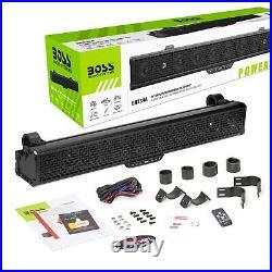 Boss Audio Bluetooth Wireless 34 RGB Soundbar Speaker UTV Marine Boat BRT34A