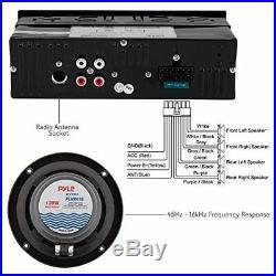Boss Audio MGR350B 3 Gauge Marine MP3/Radio Stereo Bluetooth Atv Boat Receiver