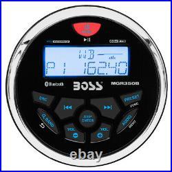 Boss Audio MGR350B Marine Gauge Style Boat Radio Stereo MP3/CD/AM/FM Bluetooth