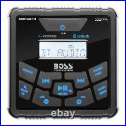 Boss MGR450B Gauge Marine Bluetooth MP3 Radio Stereo Boat Audio Receiver Player