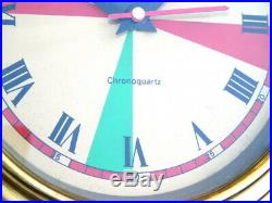 Brass 9 Inch Chronoquartz Ships Boat Yacht Marine Navigation Radio Room Clock