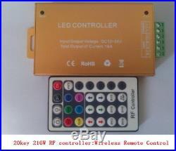 Bright 60W RGB Marine Boat Underwater Led lights, Wireless Control, 8000lm