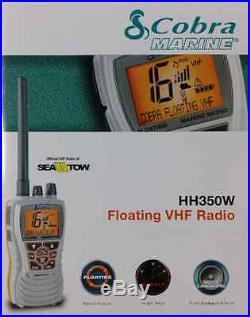 Cobra Floating Handheld VHF Radio WHITE MRHH350W FLT Boat Marine RV Camper MD