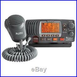 Cobra MRF77B GPS VHF Class-D Marine Boating Radio NOAA Weather Channels Sea Tow