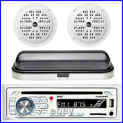 Complete Boat Waterproof CD MP3 Radio Media Receiver with2 Speaker and StereoCover