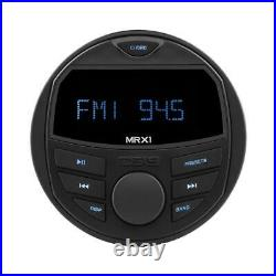DS18 MRX1 Gauge Hole Bluetooth Marine Boat Powersport Head Unit Radio Stereo USB