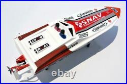 DT G26A2 ARTR Gas Boat Fiberglass 26CC RC Deep-V Monohull witho Radio Servos