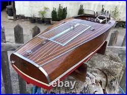 Dumas Chris Craft barrel back radio control model boat built