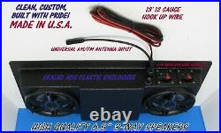 Empty Golf Cart Radio Console UTV Boat Overhead Stereo CRUNCH 6.5 SPEAKERS