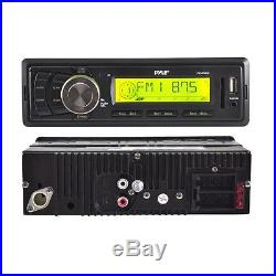 Enrock Boat Marine MP3 USB Radio with 4 Outdoor Box Waterproof Speakers System Pkg