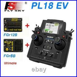 Flysky 18CH PL18EV Transmitter Radio Sys FGR12B FGR8B Receiver RC Boat Car Tank