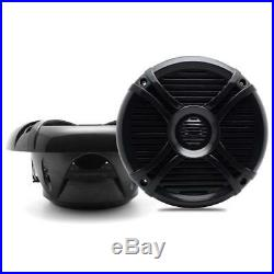 Herdio Marine Gauge AM/FM Radio Receiver+6.5 Boat tower speakers+Marine Aerial