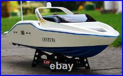 High Speed Radio Remote Control RC Century Racing Speed Boat White