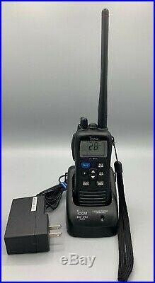 ICOM ICM73 Submersible Handheld VHF Marine Boat Radio & Charger