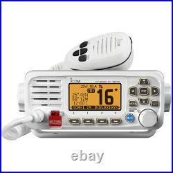 Icom M330 Compact Marine VHF Radio White Submersible Speakers Audio Boat Yacht