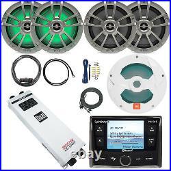 Infinity PRV315 Boat USB Radio, 8 Speakers, Amplifier and Kit, 10 Subwoofer