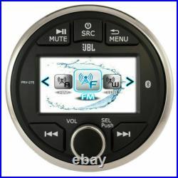 JBL PRV275 Gauge Style Marine Boat Digital Stereo Bluetooth Receiver AM/FM Radio