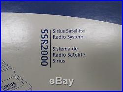 JENSEN SIRIUS SATELLITE RADIO SYSTEM With REMOTE CONTROL SSR2000 MARINE BOAT